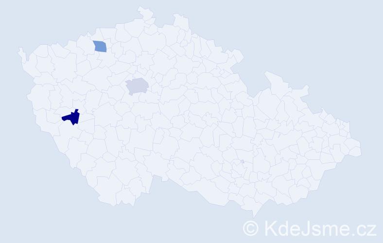 Příjmení: 'Houschková', počet výskytů 4 v celé ČR