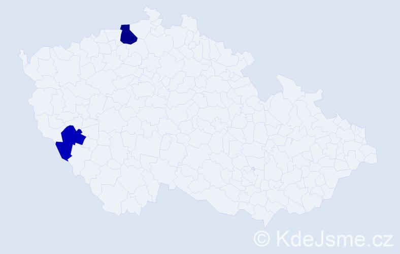 Příjmení: 'Brausová', počet výskytů 3 v celé ČR