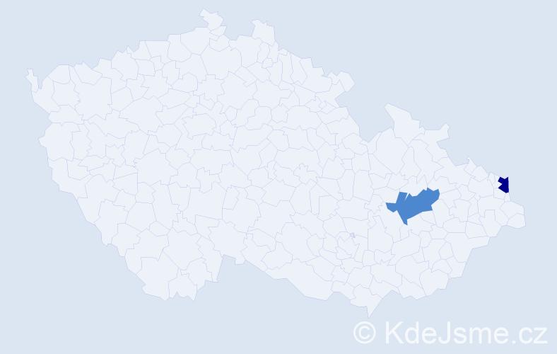 Příjmení: 'Cartelli', počet výskytů 9 v celé ČR