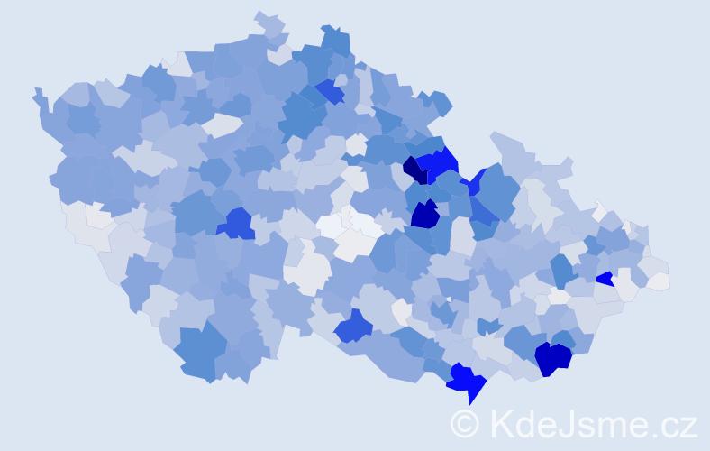 Příjmení: 'Bartoš', počet výskytů 6933 v celé ČR