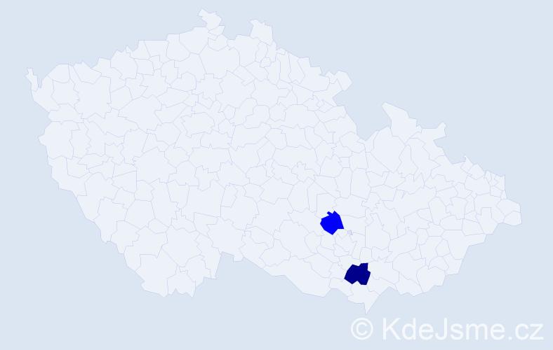 Příjmení: 'Godlewski', počet výskytů 5 v celé ČR