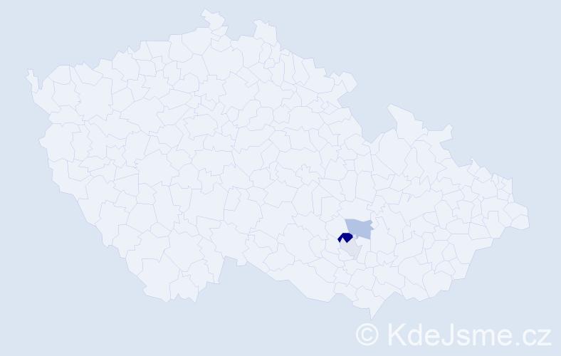 Příjmení: 'Dobyšar', počet výskytů 5 v celé ČR