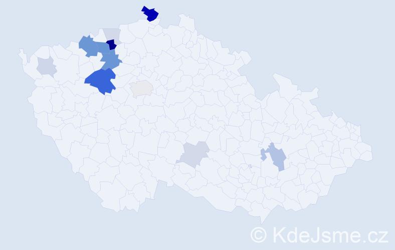 Příjmení: 'Emingr', počet výskytů 36 v celé ČR