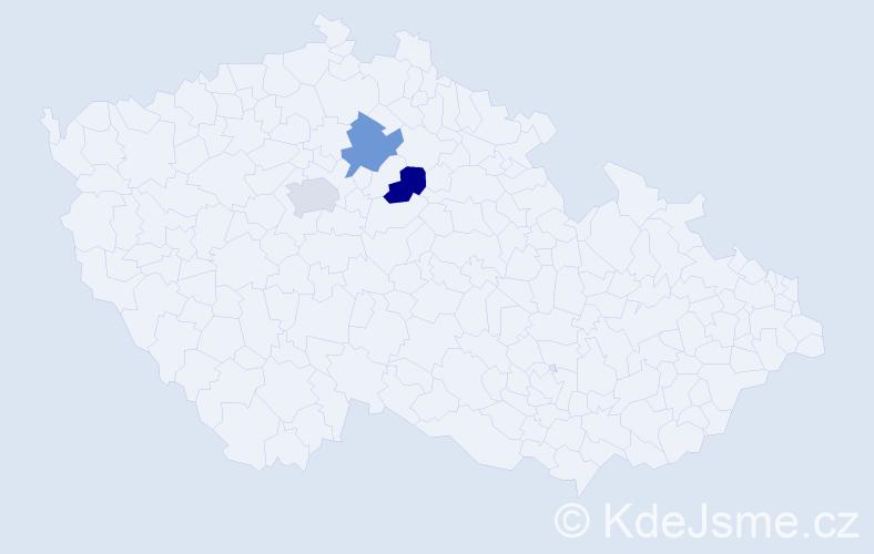 Příjmení: 'Havlína', počet výskytů 3 v celé ČR