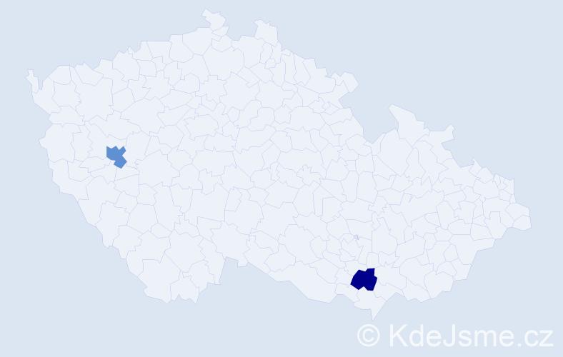 Příjmení: 'Iordachescu', počet výskytů 5 v celé ČR