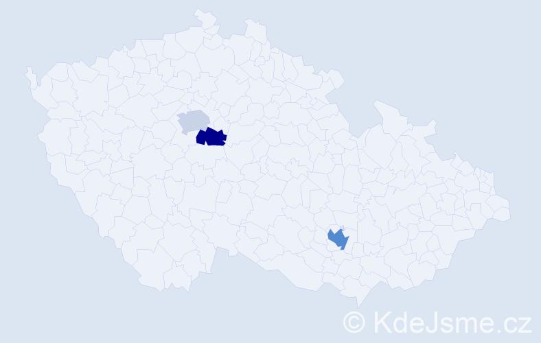 Příjmení: 'Gömö', počet výskytů 4 v celé ČR