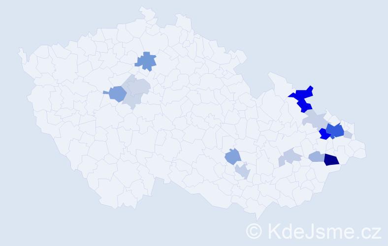 Příjmení: 'Chlebovská', počet výskytů 50 v celé ČR