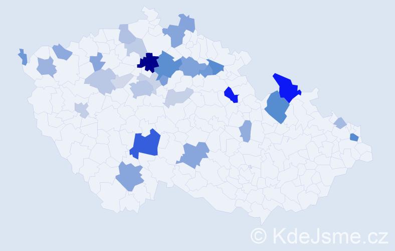 Příjmení: 'Ketnerová', počet výskytů 86 v celé ČR