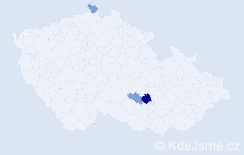 Příjmení: 'Gaizurová', počet výskytů 5 v celé ČR