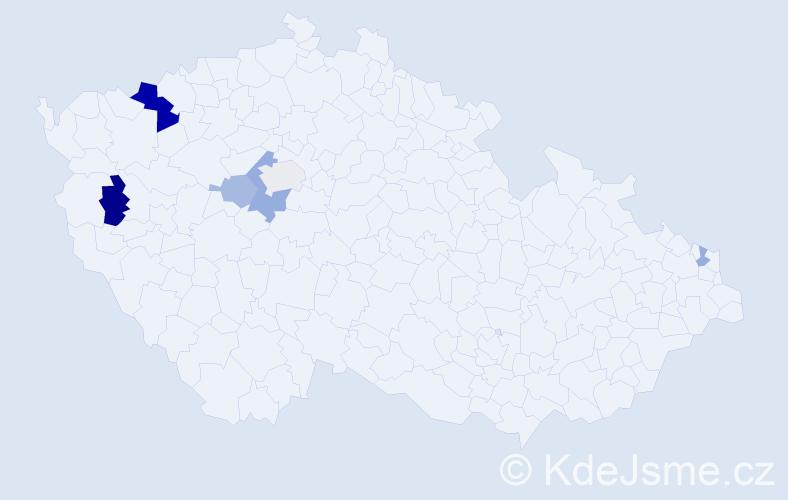 Příjmení: 'Gaduš', počet výskytů 12 v celé ČR