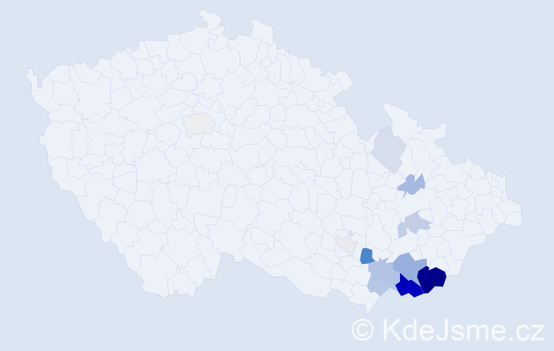 Příjmení: 'Jegla', počet výskytů 42 v celé ČR