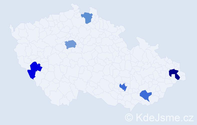 Příjmení: 'Curran', počet výskytů 13 v celé ČR