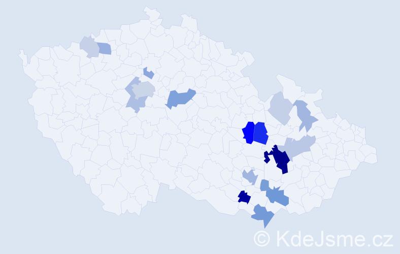 Příjmení: 'Čehovská', počet výskytů 56 v celé ČR