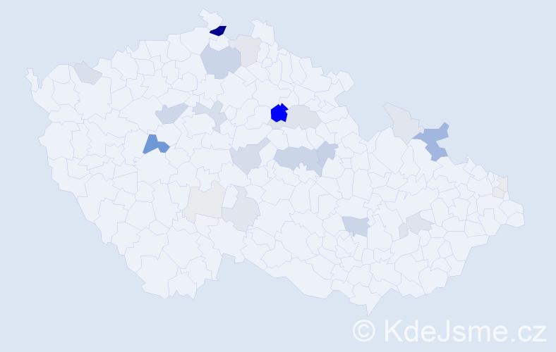 Příjmení: 'Bužík', počet výskytů 73 v celé ČR