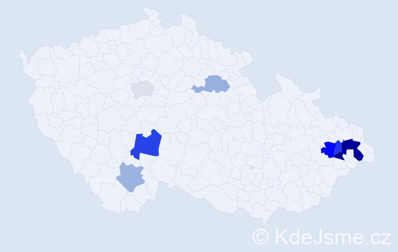 Příjmení: 'Kabuďová', počet výskytů 30 v celé ČR