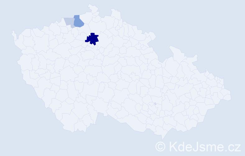 Příjmení: 'Hartlich', počet výskytů 9 v celé ČR