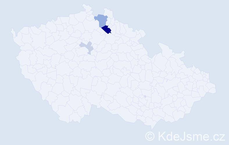 Příjmení: 'Flinta', počet výskytů 9 v celé ČR