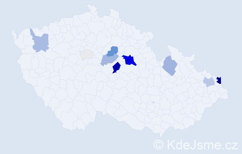 Příjmení: 'Držková', počet výskytů 22 v celé ČR
