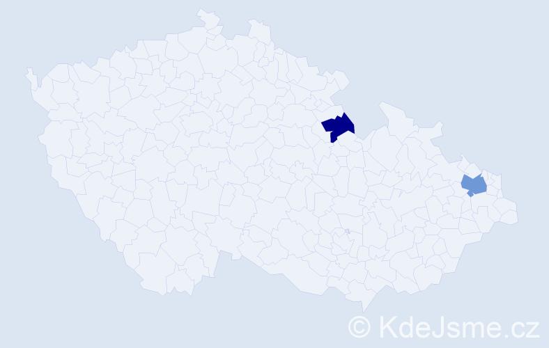 Příjmení: 'Demirová', počet výskytů 3 v celé ČR