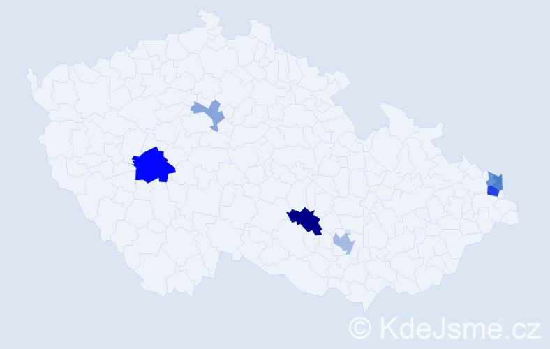Příjmení: 'Čižmariková', počet výskytů 14 v celé ČR