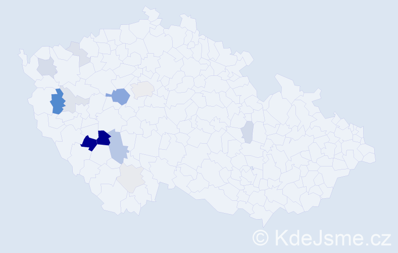 Příjmení: 'Dobřemysl', počet výskytů 36 v celé ČR