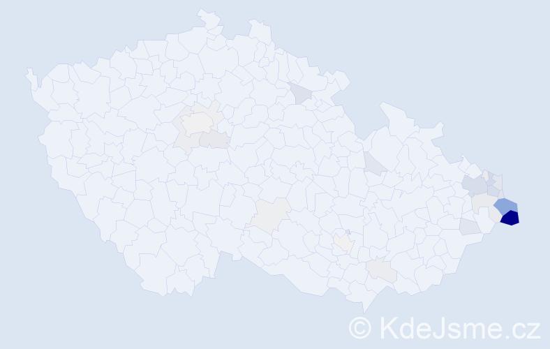 Příjmení: 'Bulawová', počet výskytů 119 v celé ČR