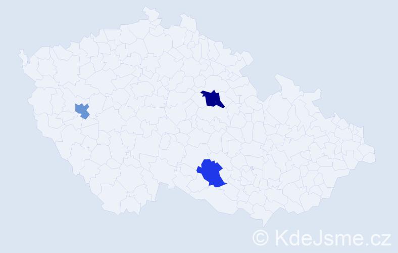 Příjmení: 'Jilbergová', počet výskytů 4 v celé ČR