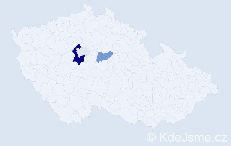 Příjmení: 'Dittmajerová', počet výskytů 6 v celé ČR
