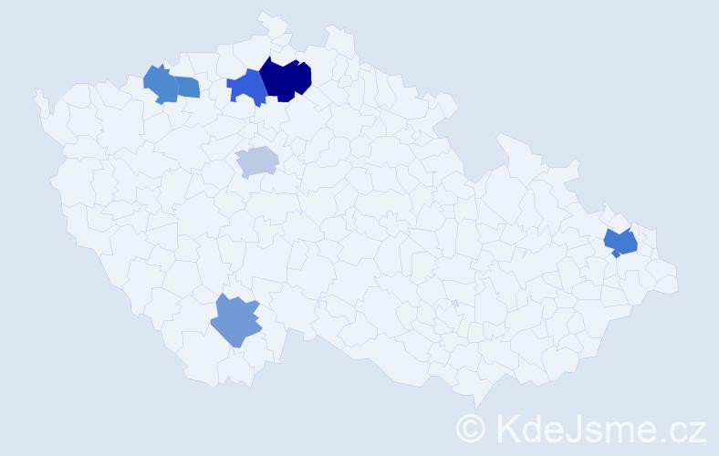 Příjmení: 'Goldbrichtová', počet výskytů 11 v celé ČR