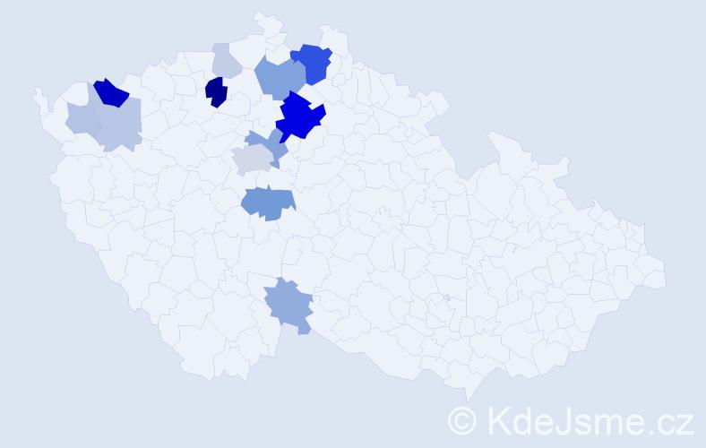 Příjmení: 'Domalíp', počet výskytů 36 v celé ČR