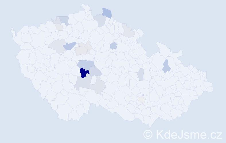 Příjmení: 'Kytýr', počet výskytů 47 v celé ČR