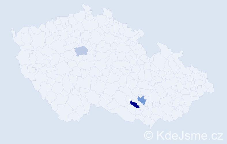 Příjmení: 'Kudzbelová', počet výskytů 7 v celé ČR