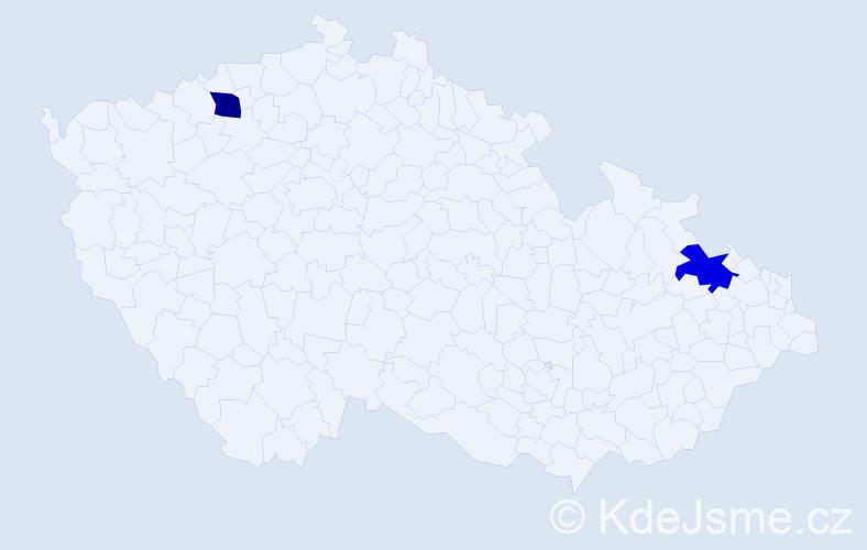 Příjmení: 'Lannigan', počet výskytů 2 v celé ČR