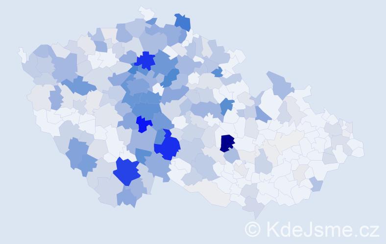 Příjmení: 'Kaňková', počet výskytů 978 v celé ČR