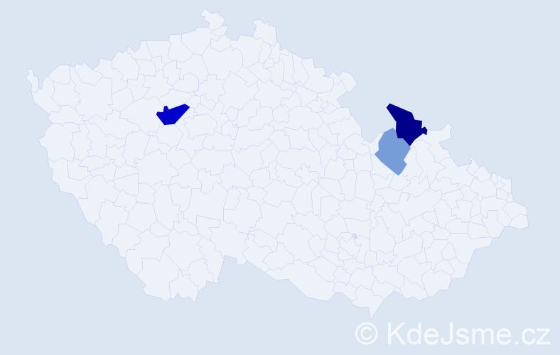 Příjmení: 'Gadžiová', počet výskytů 28 v celé ČR
