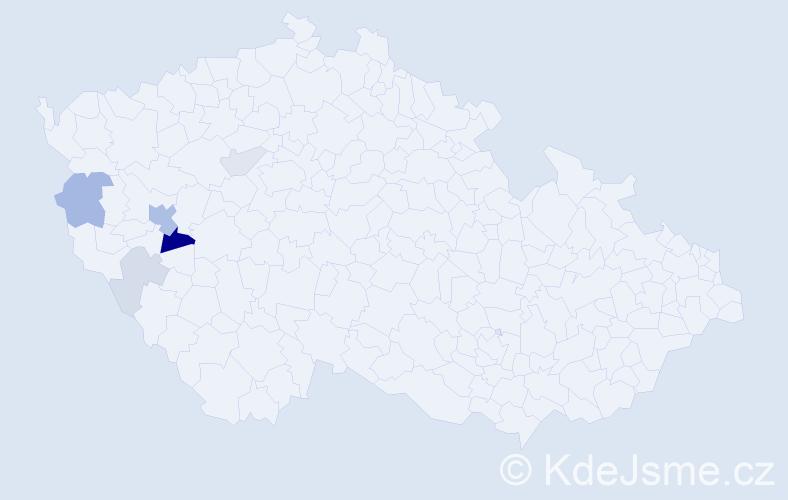 Příjmení: 'Kares', počet výskytů 14 v celé ČR