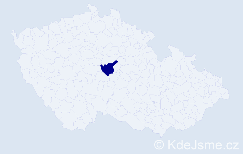 Příjmení: 'Irecký', počet výskytů 1 v celé ČR