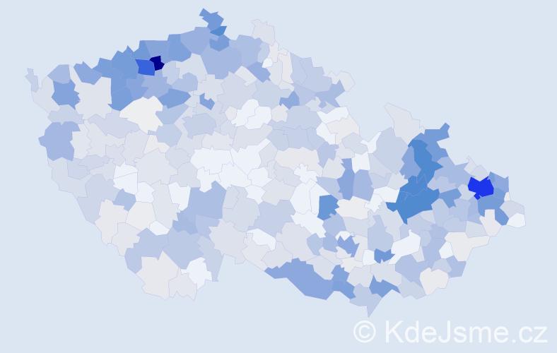 Příjmení: 'Balážová', počet výskytů 2232 v celé ČR