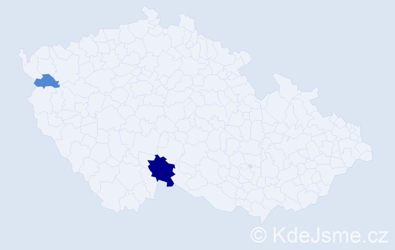 Příjmení: 'Iannelli', počet výskytů 5 v celé ČR