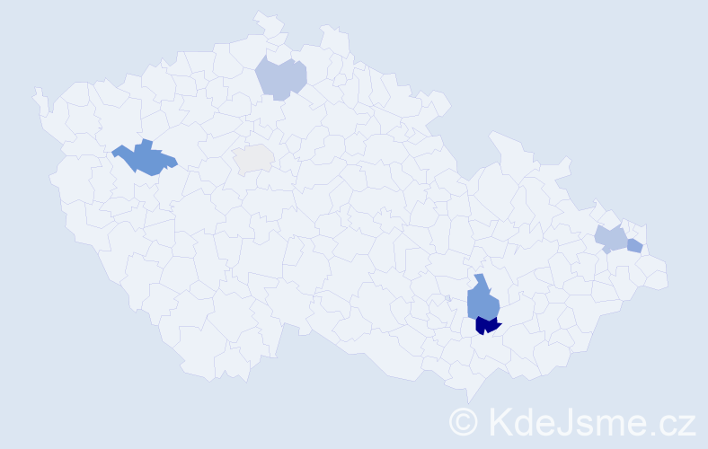 Příjmení: 'Fabok', počet výskytů 12 v celé ČR