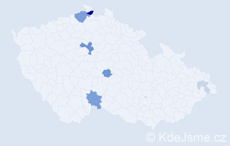 Příjmení: 'Fieger', počet výskytů 14 v celé ČR