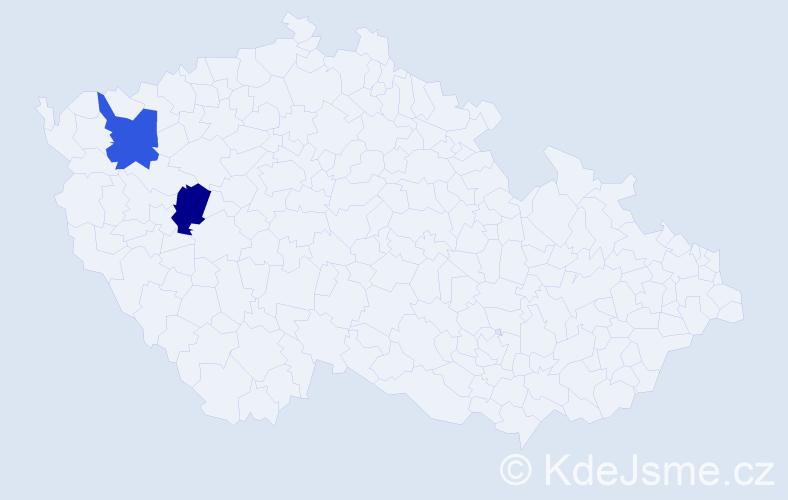 Příjmení: 'Debellisová', počet výskytů 2 v celé ČR