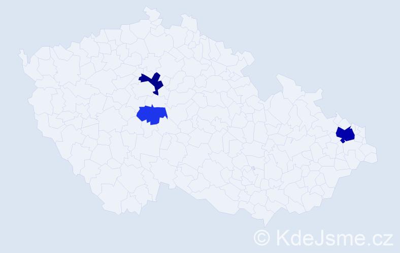 Příjmení: 'Byčánková', počet výskytů 8 v celé ČR