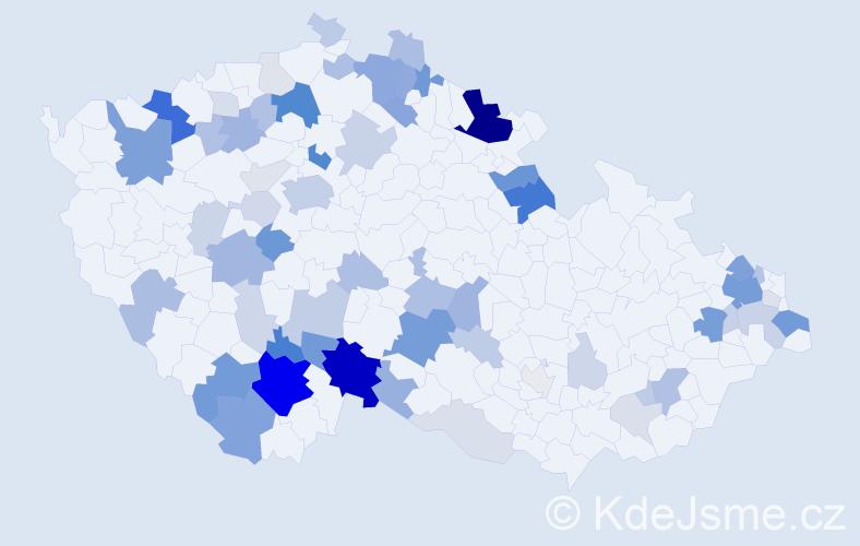 Příjmení: 'Kasper', počet výskytů 207 v celé ČR