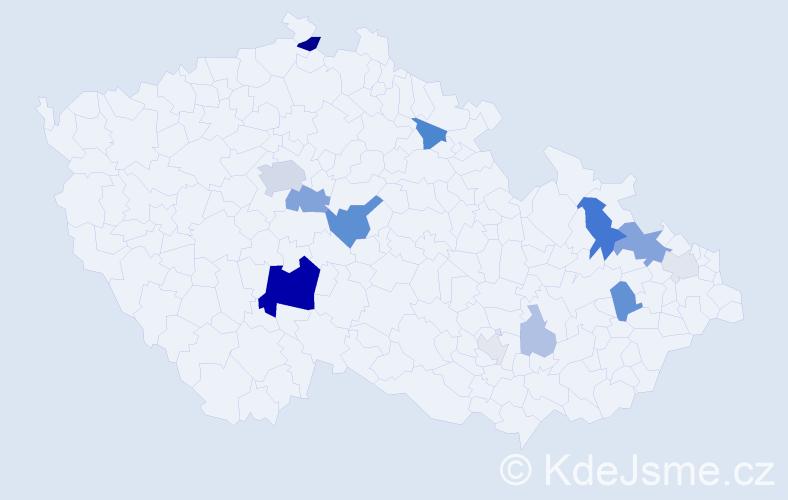 Příjmení: 'Lengerová', počet výskytů 37 v celé ČR