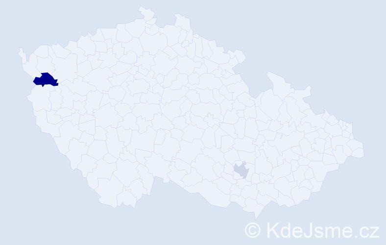 Příjmení: 'Imamovičová', počet výskytů 5 v celé ČR