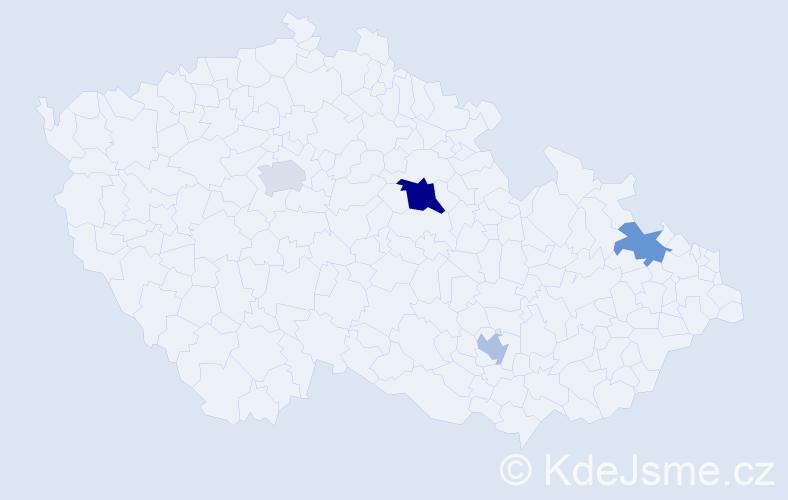 Příjmení: 'Galočíková', počet výskytů 12 v celé ČR