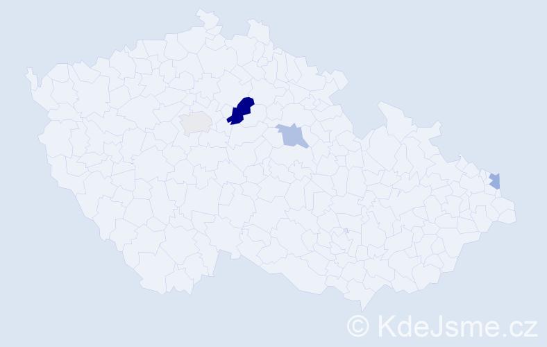 Příjmení: 'Gromada', počet výskytů 6 v celé ČR