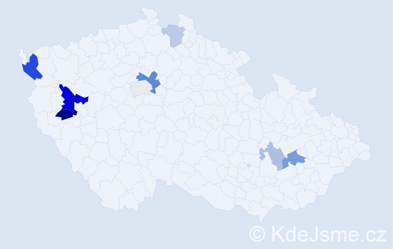 Příjmení: 'Engelmaier', počet výskytů 17 v celé ČR