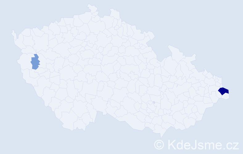 Příjmení: 'Jaś', počet výskytů 12 v celé ČR